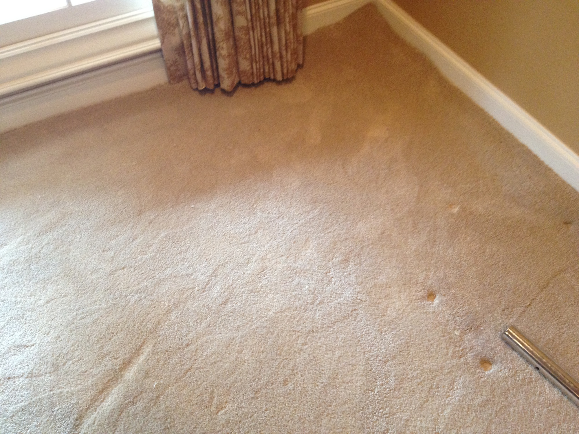Carpet re-stretching- Before